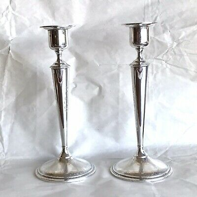 "J S Co Sterling Silver 10"" Candlesticks Persian Pair"