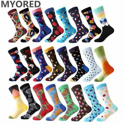 1 Pair Funny Socks Men Business Causal Dress Combed Cotton Men's Colorful Socks