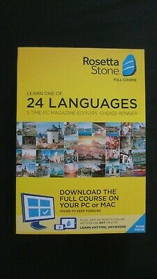 GENUINE Rosetta Stone Full Course Learn One Of 24 Languages Plus 24 Month Access