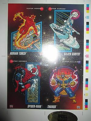 1992 Limited Edition Marvel Promo Cards Uncut SHEET Sealed w/ serial #