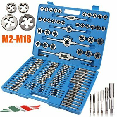 M2-M18 Set Filiera Filettatura 110 Pz Kit Completo Maschi Femmina