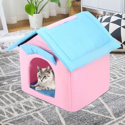 Portable Dog Cat Pet Tent Folding House Sleeping Bed Indoor Outdoor Kennel