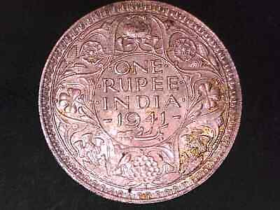 India 1941 One Rupee  Silver