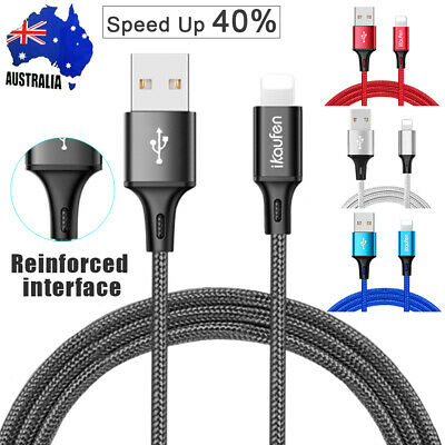 Lightning USB Data Charger Charging Cable for iPad iPhone 6 7 8 Plus X XS MAX XR