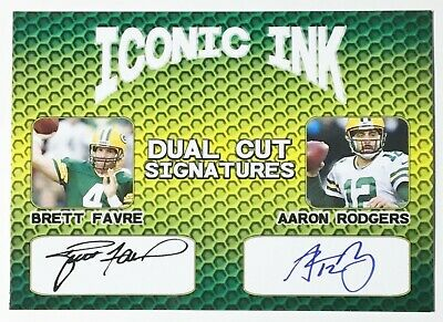 Lot of 25 Iconic Ink Dual Cut Signatures Facsimile Autographed - Favre - Rodgers