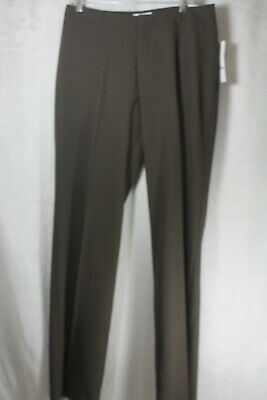 NEW Womens Coldwater Creek Natural Fit Bootcut Leg Brown Pants Size L14