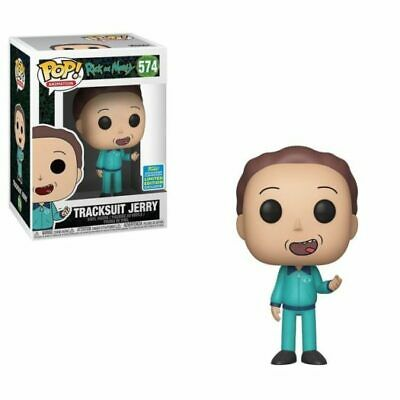 SDCC Shared Exclusive Tracksuit Jerry Rick & Morty Funko Pop Free Shipping