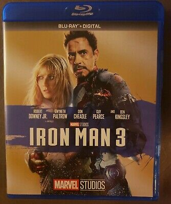 Iron Man 3 (Blu-ray Disc, 2017) No Digital