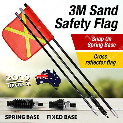 Upgraded Safety Flag Vehicle Warning 4WD Towing Offroad Touring Simpson Desert