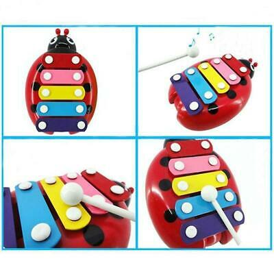 Beetle Knock Piano Music Xylophone Toys Toddler Educational 5-Note Toy Plastic