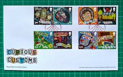 2019 Curious Customs Royal Mail First Day Cover Maypole Monmouth FDI pmk