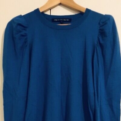 FRENCH CONNECTION Blue Top Jumper Size S