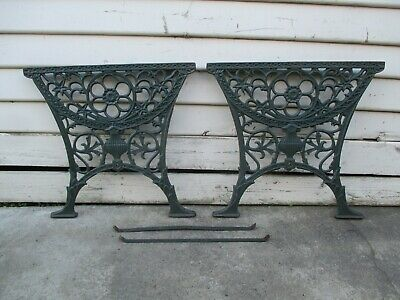 Vintage cast iron table bench seat ends.  Outdoor garden chair seat