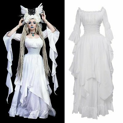 CHIC Boho Medieval Renaissance Dress Pirate  Peasant Wench Victorian Ball Gown