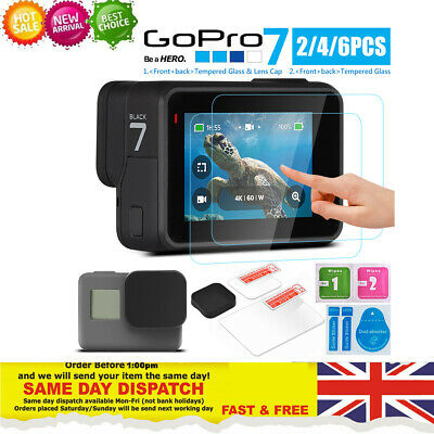 GOPRO HERO 7 6 5 BLACK SCREEN PROTECTOR TEMPERED GLASS LENS - Free shipping