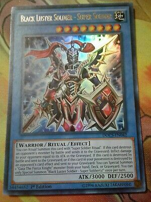 Yugioh Black Luster Soldier - Super Soldier Ultra Rare DOCS 1st Ed Played