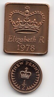 "1978 SHIELD & 1/2p In "" PROOF "" Condition Extremely Nice 1/2p piece   (1906)"