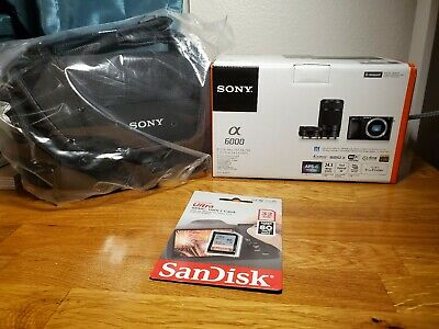 Sony Alpha a6000 Mirrorless Camera 16-50mm + 55-210mm Lens Kit ILCE-6000