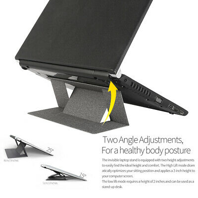 Portable Laptop Stand Holder Invisible Folding Screen Riser Adjustable Universal