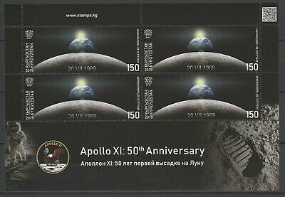 Kyrgyzstan 2019 Space, Apollo 11 50th Anniversary Moon Landing MNH Sheet