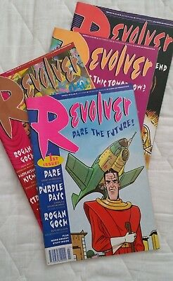 4 x REVOLVER 2000AD COMIC ISSUES 1 to 4 1990 ALL COLOUR STRIPS