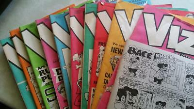 VINTAGE 10 COMPLETE ISSUES OF VIZ COMIC Nos 49 to 58 - 20th CENTURY NON-PC FUN