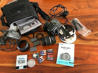 Canon EOS 400D 10.1 MP Digital Camera Kit with EF-S 18-55mm Lens+Flash