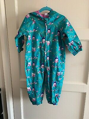 Baby Girls Mini Club Boots 1-1 1/2 12-18 Months Puddle Suit Rainsuit Foldaway