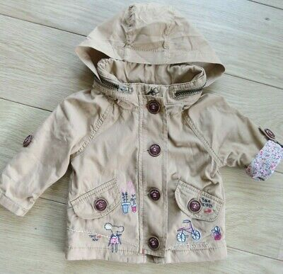 Baby Girls Next Coat  jacket 3-6 Months Old Excellent Condition cute embroidery