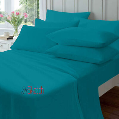 """Extra Deep 16/""""//41cm Fitted Sheet Percale Quality Egyptian Cotton Sheets All Size"""