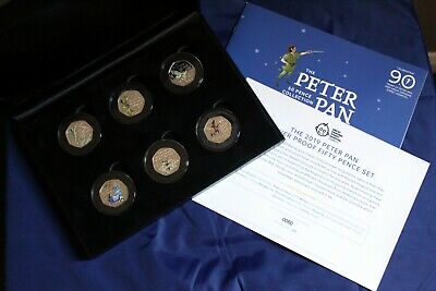 offical 2019 peter pan silver proof fifty pence set low coa 60 of 1995