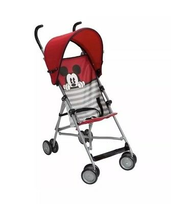 Disney Mickey Mouse Umbrella Stroller with Canopy Red Black