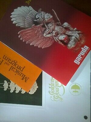 GARUDA (lot) Menu (Anglais et Malais) + Musical & film program + GOLDEN GOURMET