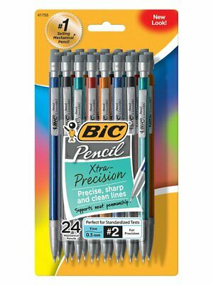 BIC Xtra-Precision Mechanical Pencil Metallic Barrel Fine Point (0.5mm) 24-Count