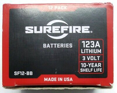 NOB Surefire 12pk 3V SF12-BB 123A CR123A Lithium Batteries Expires 02/2028 *H3