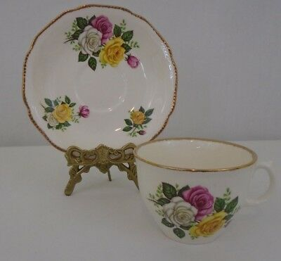 Royal Staffordshire  June Bouquet Fine Bone China England Tea Cup And Saucer