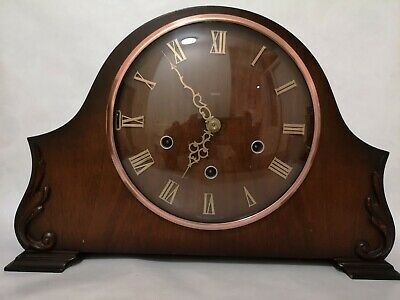 Vintage Smiths Enfield wooden cased mantle clock