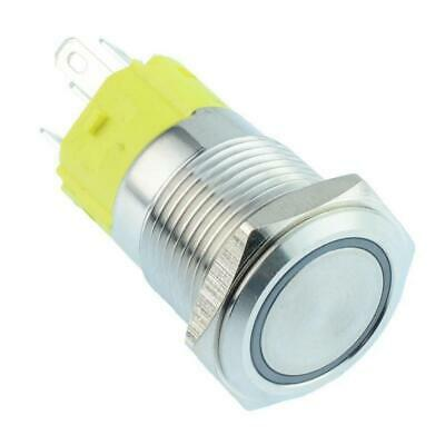 Momentary / Latching 16mm illuminated Metal Vandal Push Button Switch 12V