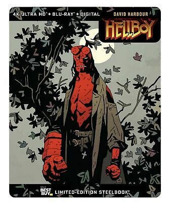 Hellboy (BLU-RAY 2019) NEVER WATCHED BLU-RAY DISC ONLY W/ BEST BUY STEELBOOK