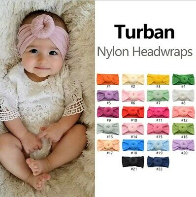Baby Girls Lace Headbands Hairbands Hair Bow Stretchy Bands Hair Accessorie