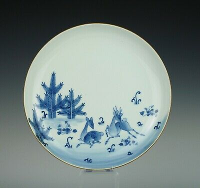 Fine, Kakiemon type, Japanese porcelain dish with deer, probably ~1700
