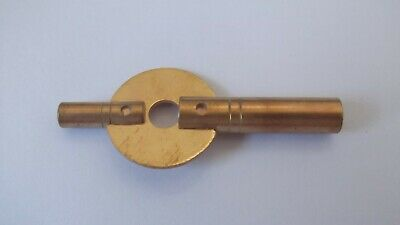 New Brass Double-ended Carriage / Travel Clock Key,Size  - 3.50 mm & 1.75 mm