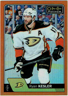 2016-17 O-Pee-Chee Platinum Orange Rainbow RYAN KESLER #115 #19/25 Ducks UD OPC