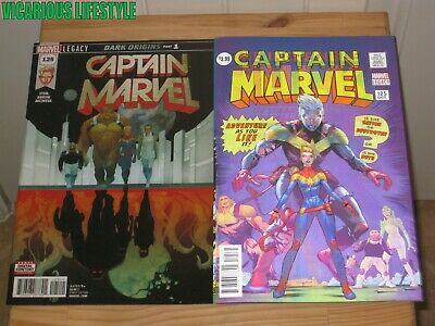 2017 10th Series Captain Marvel #125 Marvel Covers A /& B Lenticular Variant NM