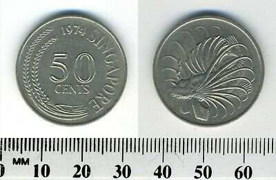 Singapore 1974 - 50 Cents Copper-Nickel Coin - Lion fish