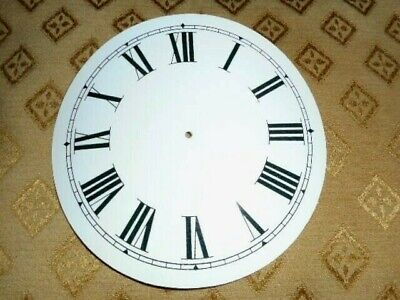 "Round Paper Clock Dial - 3"" M/T -Roman - WHITE GLOSS - Face / Clock Parts/Spares"