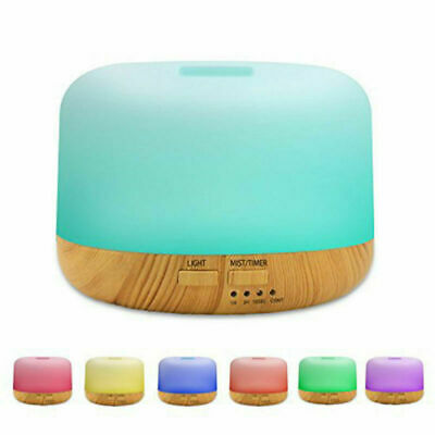 7 Colores Ultrasonico Aroma humidifier Difusor LED Aromaterapia Humidificador