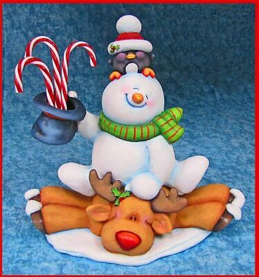 """Ceramic Bisque Hand-Painted Holiday Joy Ride, 11"""" Tall"""