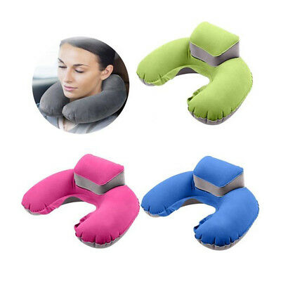 Inflatable Travel Pillow Air Cushion Neck Rest U-Shape Compact Plane Car Healthy