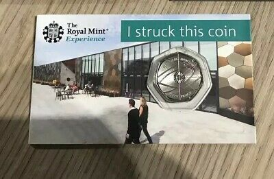 2018 Isaac Newton Royal Mint STRIKE YOUR OWN  50p Coin